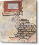 Window With Crumbling Plaster Metal Print