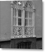 Windows At Cadiz Bw Metal Print