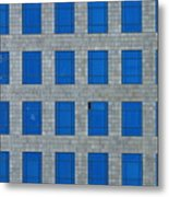 Windows Bedspread Metal Print