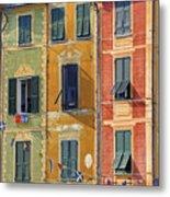 Windows Of Portofino Metal Print