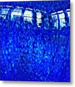 Windows Reflected On A Blue Bowl Metal Print