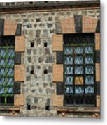 Windows With Steel Grates Metal Print