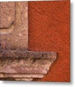 Windowsill And Orange Wall San Miguel De Allende Metal Print