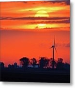 Windpower Sunrise Metal Print