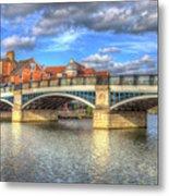 Windsor Bridge River Thames Metal Print