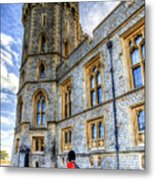 Windsor Castle And Coldstream Guard Metal Print
