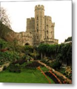 Windsor Castle In Winter Metal Print