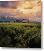 Windstorm On The Prairie Metal Print