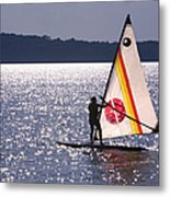 Windsurfing Lake Champlain Metal Print