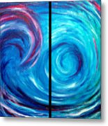 Windswept Blue Wave And Whirlpool 2 Metal Print