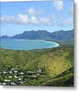 Windward Oahu Panorama IIi Metal Print