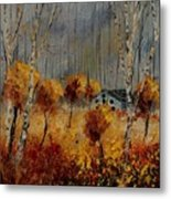 Windy Autumn Landscape  Metal Print