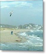 Windy Day At Good Harbor Beach Metal Print