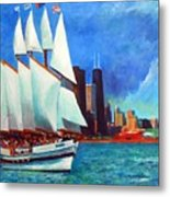 Windy In Chicago Metal Print