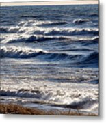 Windy Spring Lake Huron Metal Print