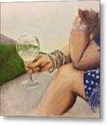 Wine And Bracelets Metal Print