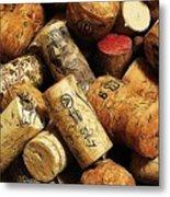Wine And Champagme Corks Metal Print