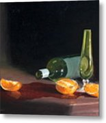 Wine And Oranges Metal Print