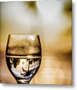 Wine And Sunset Metal Print