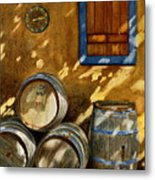 Wine Barrels Metal Print by Karen Fleschler