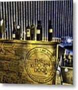 Wine Bazaar Metal Print