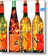 Wine Bottle Lights Metal Print