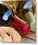 Wine Bottles Metal Print