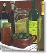 Wine Bottles And Jars Metal Print