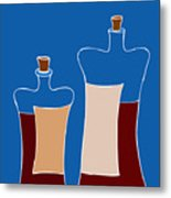 Wine Bottles Metal Print