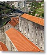 Wine Cellars In Vila Nova De Gaia By The Douro River Metal Print