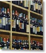 Wine Closet Metal Print