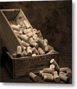 Wine Corks Still Life I Metal Print by Tom Mc Nemar