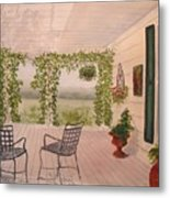 Wine Country Gardens Metal Print