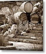 Wine Country Sepia Vignette Metal Print