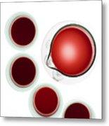 Wine Decanter And Glasses Metal Print