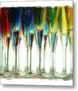 Wine Flutes Metal Print