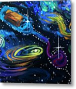 Wine Galaxy Metal Print