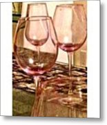 Wine Glass On A Table Metal Print