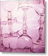 Wine Goddesses Metal Print
