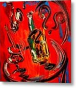 Wine Jazz Metal Print