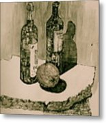 Wine On The Rock Metal Print