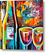 Wine Lovers Abstract Metal Print