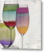 Wine Prism Metal Print