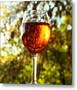 Wine Reflections Square Metal Print