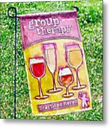 Wine Sign Metal Print