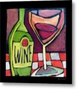 Wine Squared Metal Print