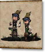 Wine Time For The Leprechauns  Metal Print