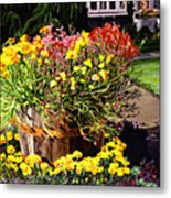 Winebarrel Garden Metal Print