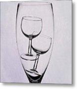 Wineglass Trio Metal Print