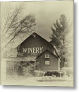 Winery In Sepia Metal Print